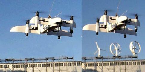 """تصویر سمت چپ تصویر فوتوشاپی منتشر شده در رسانه های حکومتی از پهباد """"کوکر ۱"""" و در سمت راست تصویر واقعی از پرنده بدون سرنشین طراحی شده توسط محققان ژاپنی دیده میشود!!"""