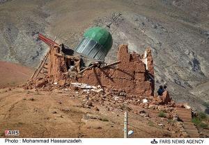 امامزاده ای که بر اثر زلزله با خاک یکسان شد!