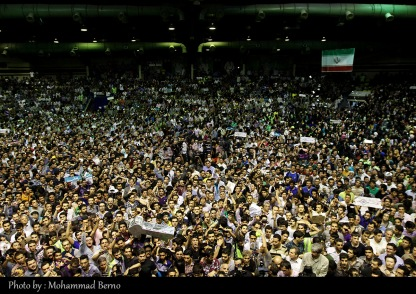 همایش انتخاباتی حسن روحانی در ورزشگاه شیرودی تهران