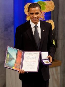 اوباما به عنوان برنده جایزه صلح نوبل به دنبال حمله نظامی به سوریه است!